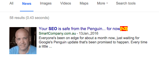 In Google News For SEO